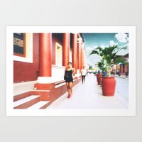 sandra dieckmann Art Prints featuring Sandra by bryantwashere