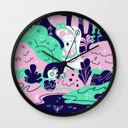 Deep Jungle Dinosaur Wall Clock