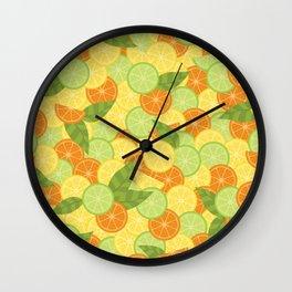 Citrus Carnival Wall Clock