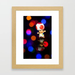Dancing toad Framed Art Print