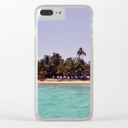 Tropical Island Clear iPhone Case