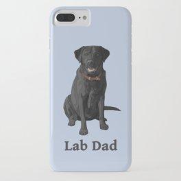 Lab Dad Black Labrador Retriever iPhone Case