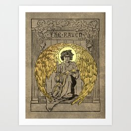 The Raven. 1884 edition cover Art Print