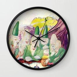 """Leprechauns"" by Thomas Mackenzie Wall Clock"