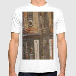 retro audio cassettes T-shirt