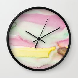 7   | Abstract Minimal Watercolor Painting | 191223 Wall Clock