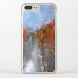 Fire Walk Clear iPhone Case
