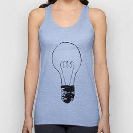 Lightbulb Sketch Unisex Tank Top