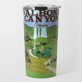 valbona canyon, Albania holiday poster. Travel Mug