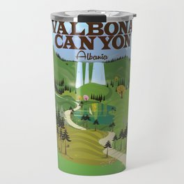 valbona canyon, Albania holiday poster. Travel Mug