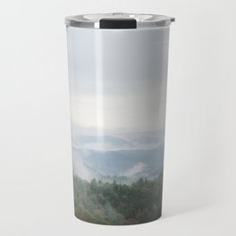 Foggy Mountains Travel Mug