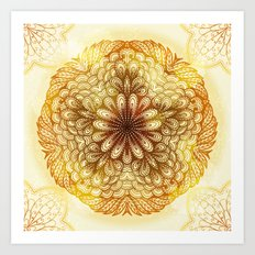 Hand Drawn Floral Mandala 04 Art Print