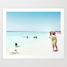 Day at the beach serie #1 Art Print