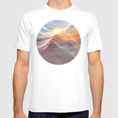 Earth , Wind & Fire (abstract) MEDIUM White Mens Fitted Tee