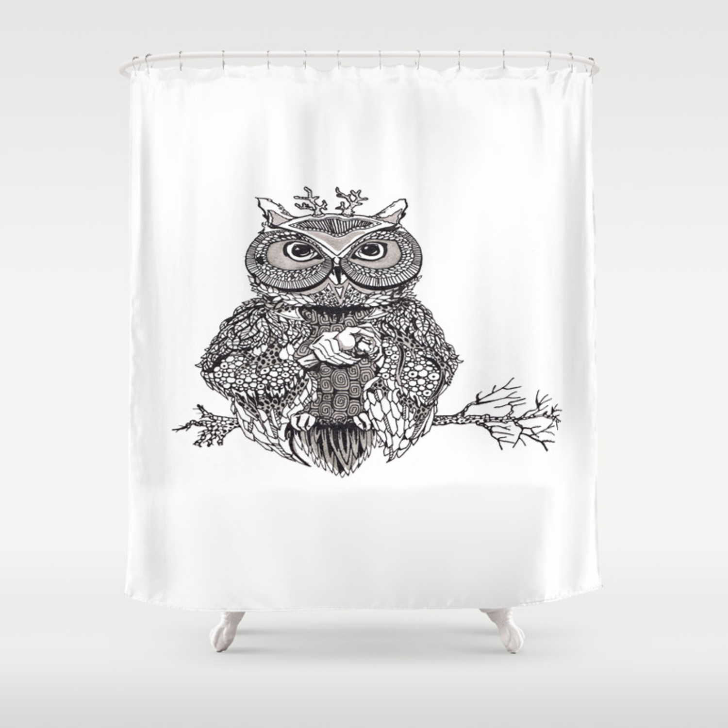 The Owl The Eagle Owl Shower Curtain