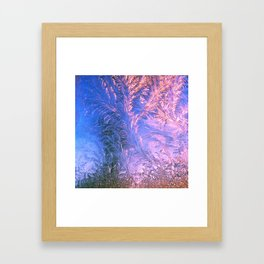 Ice Fractals Framed Art Print