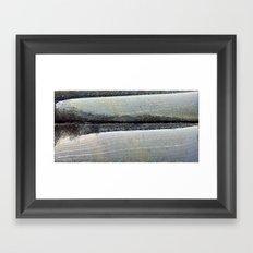 obliterated waveform Framed Art Print