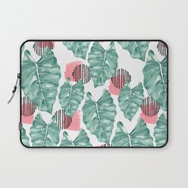 Watercolor tropical leaves abstract Laptop Sleeve