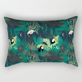 midnight jungle Rectangular Pillow