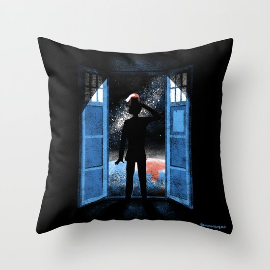 It's Bigger on the Outside Throw Pillow