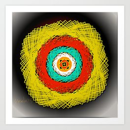 a pattern in squares Art Print