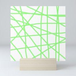Doodle (Light Green & White) Mini Art Print