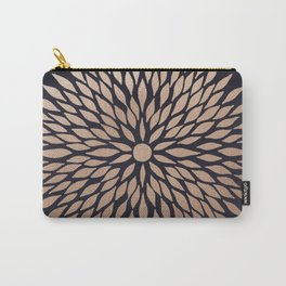 Rose Gold Flower Carry-All Pouch