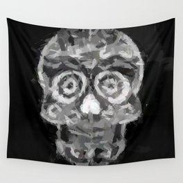 Abstract Painting SKULL Wall Tapestry
