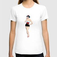pinup T-shirts featuring PinUp by AnishaCreations