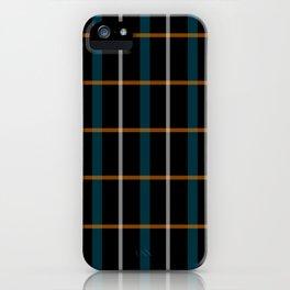 Black vintage grid pattern iPhone Case