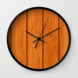 Orange Floor Wall Clock