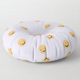 Purple Smiley Face Floor Pillow