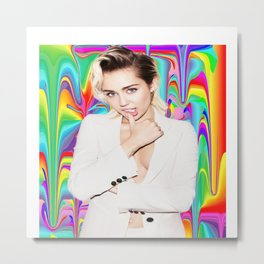 Miley Drippy Rainbow  Metal Print