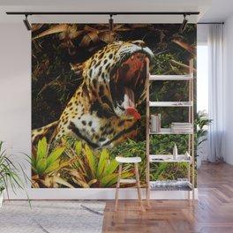 Jaguar Roar Yawn Wall Mural