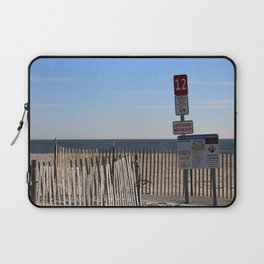 Beach Closed Laptop Sleeve