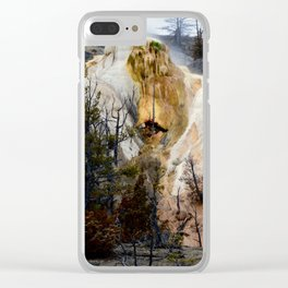 Mammoth Hot Springs-Yellowstone Clear iPhone Case