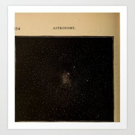 Astronomy for the Use of Schools and Academies (1882) - Star Cluster in the Constellation Centaurus Art Print