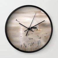 seahorse Wall Clocks featuring Seahorse by Laake-Photos