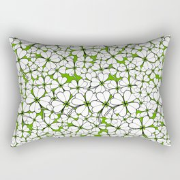 Line art - Clover : Green Rectangular Pillow