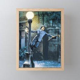 Singing in the Rain Movie Poster - Gene Kelly Print - Classic Home Art, Musical Framed Mini Art Print