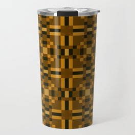 AUTUMN warm earth tones square geometric pattern Travel Mug