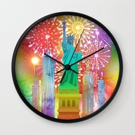 New York Statue Of Liberty Happy New Year 2019 Celebration gift Wall Clock
