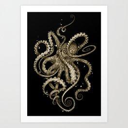 Octopsychedelia Sepia Art Print