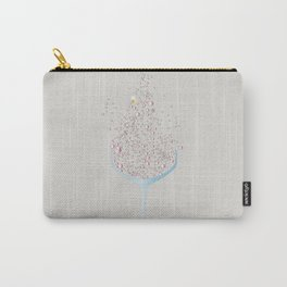 Glass Of Pink Bubbles Carry-All Pouch