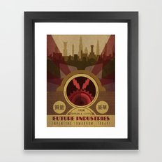 Future Industries Advertisement Framed Art Print