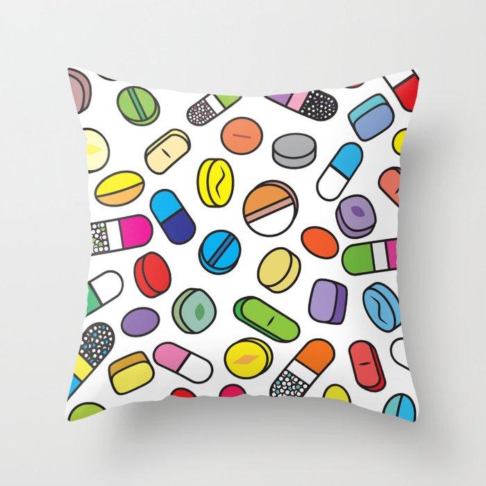 Drugs N More Pills Throw Pillow