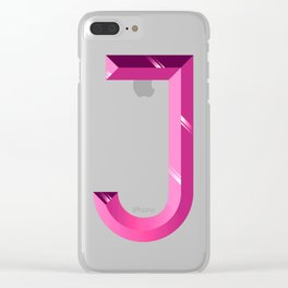 Crystal 'J' Clear iPhone Case