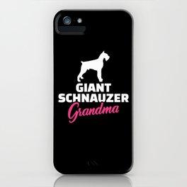 Giant Schnauzer Grandma iPhone Case