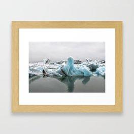 Jokulsarlon Glacier Lagoon Icebergs Framed Art Print