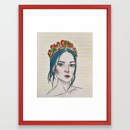 Berry Girl Framed Art Print